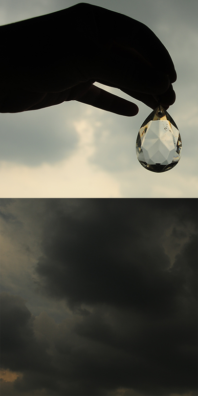 Stormy sky with crystal, low res 3