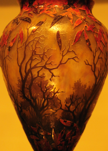 Chrysler Museum of Art, autumn forest glass vase, low res