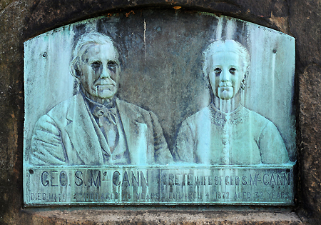 McCann rock grave couple close up, Elmira, NY, low res